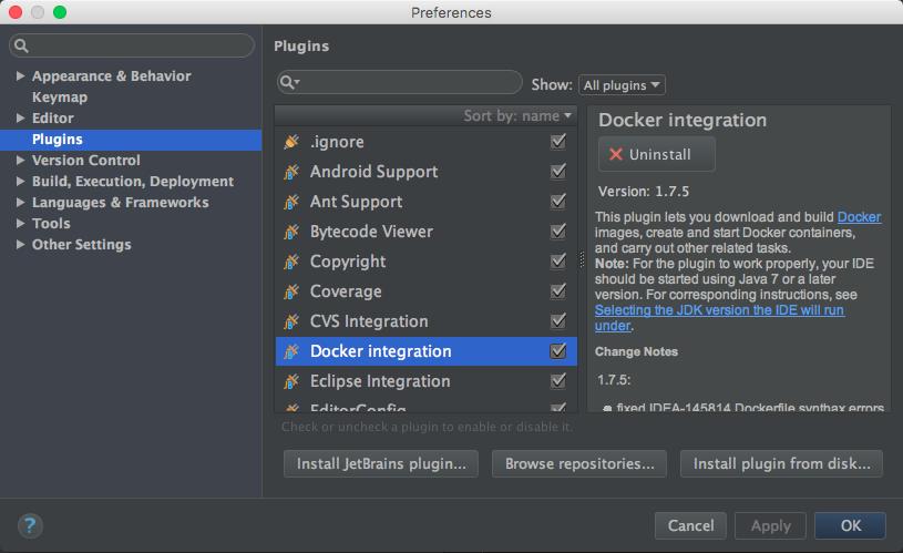 Docker integration plugin